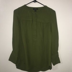 J Crew olive green blouse